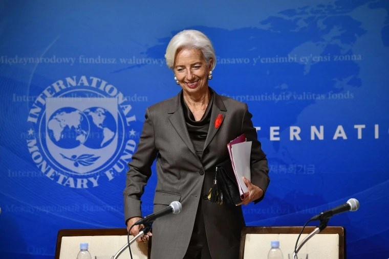 Image: International Monetary Fund (IMF) managing director Christine Lagarde smiles as she attends a press conference in Tokyo