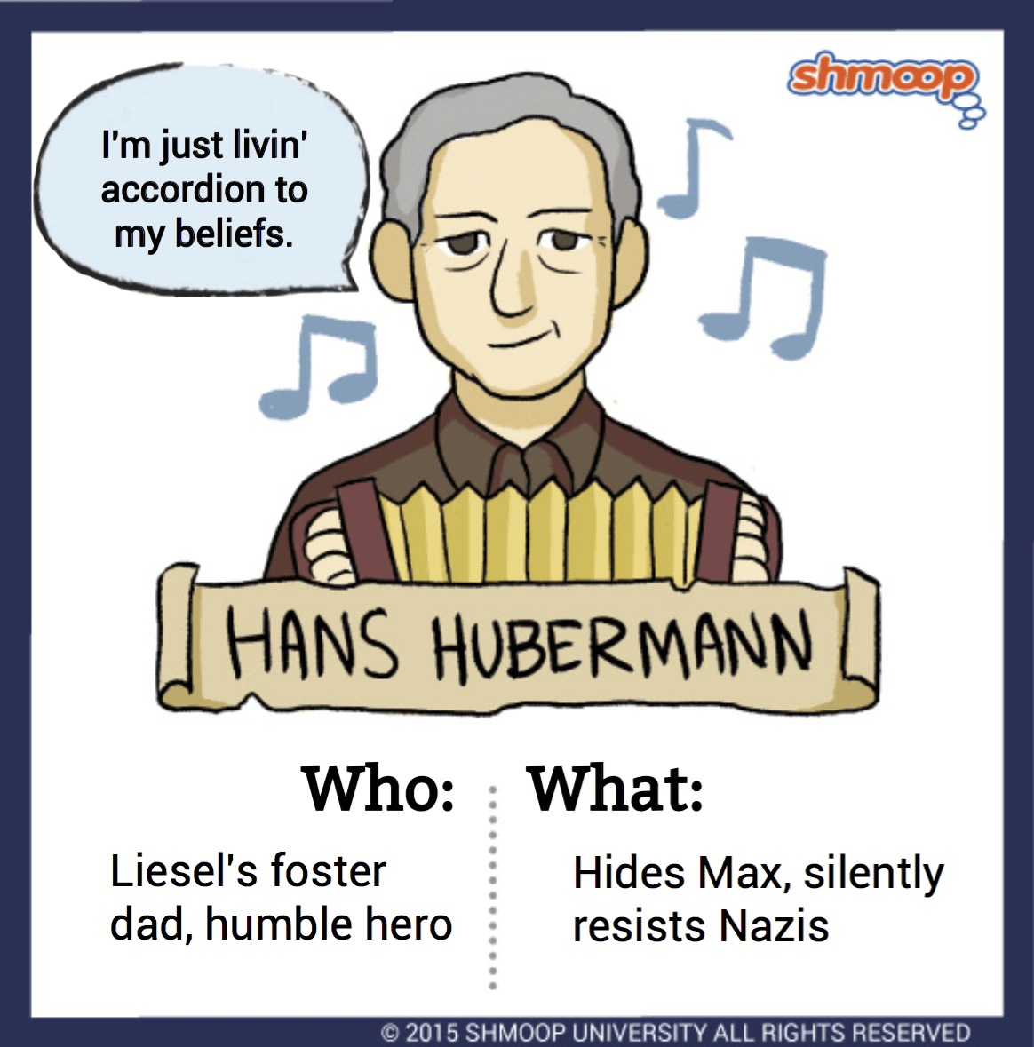 Hans Hubermann In The Book Thief