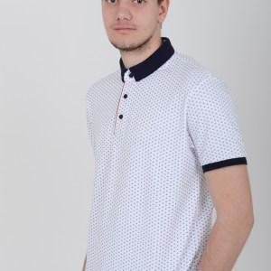 Muška majica – BELA sidra
