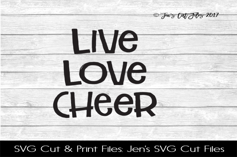 Download Free Live Love Cheer SVG Cut File Crafter File