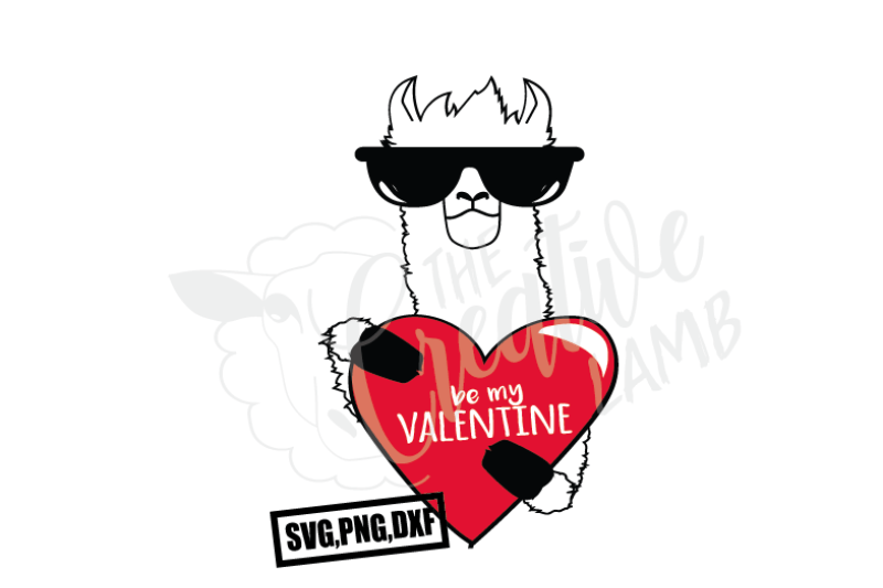 Download Be My Valentine Llama Design