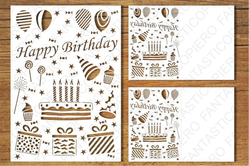 Free Happy Birthday Card Svg Files Crafter File