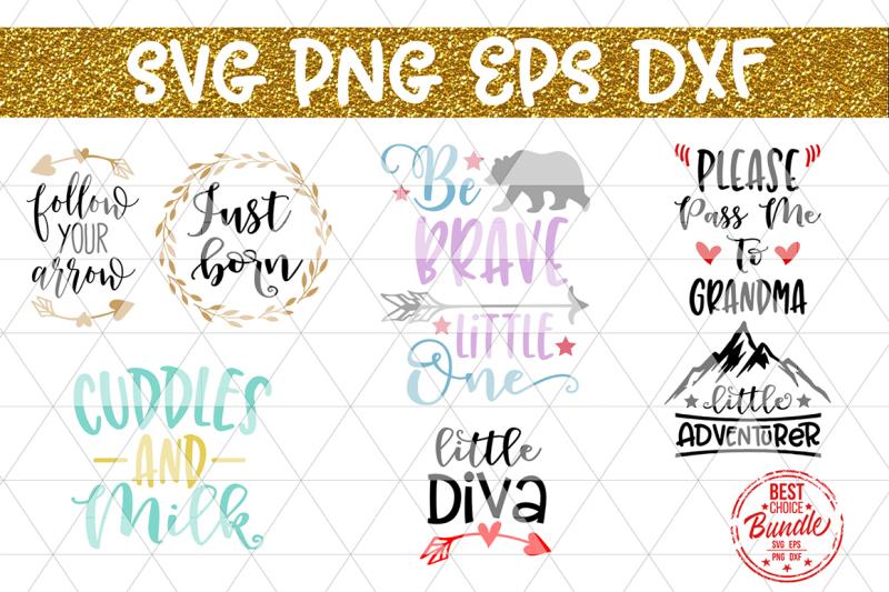 Download Free Cute Onesie Bundle SVG Cut Files, Baby Shower Newborn ...