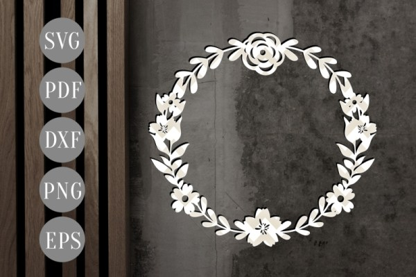 wreath template free # 65