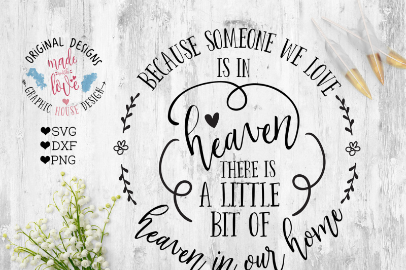 Download Free Because someone we love is in heaven there is a ...