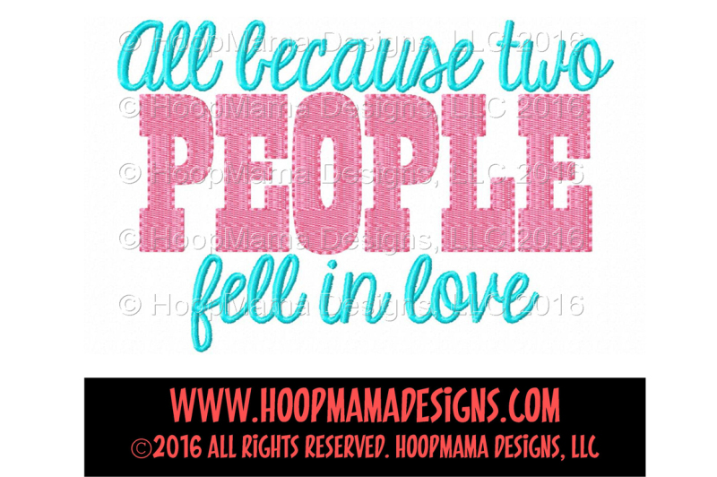 Download Free All because two people fell in love SVG - All ...