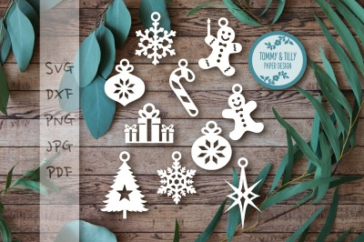 Download Free Hanging Christmas Decorations SVG, PNG, EPS DXF File