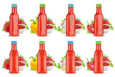 Download Plastic Bottle With Sauce Mockup Yellowimages
