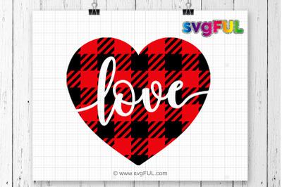 Download Download Valentine SVG, Plaid heart svg, Valentines Day ...