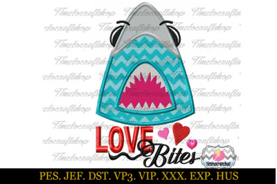 Download Download Valentine's Day Shark Love Bites Embroidery ...