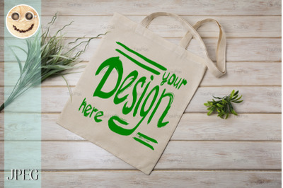Stitched Paper Bag Mockup Front View