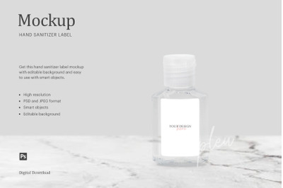 Download Glossy Bottle With Paper Label Mockup Yellowimages
