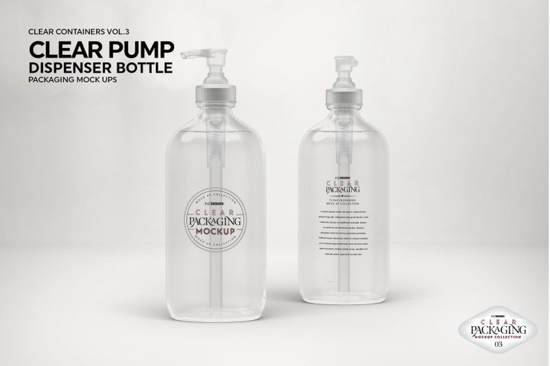 Download Clear Plastic Bottle With Pump Mockup Yellowimages