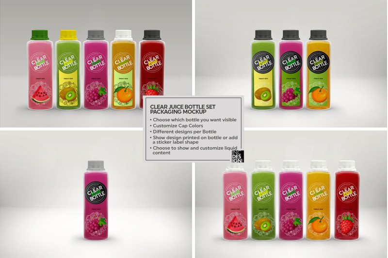 Download Clear Pet Bottle With Juice Mockup Yellowimages