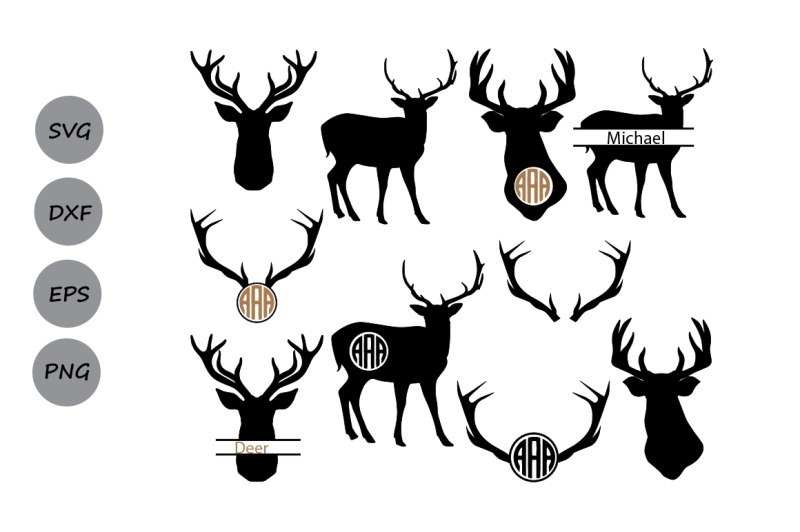 Download Deer Silhouettes SVG, Deer SVG, Deer SVG Cutting Files ...