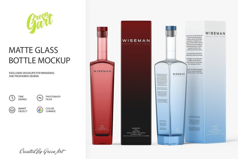 Download Clear Glass Dropper Bottle With Box Mockup Yellowimages