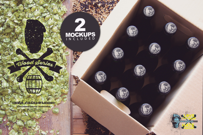 Download Free Beer Box & Caps Duo | Logo (PSD Mockups)