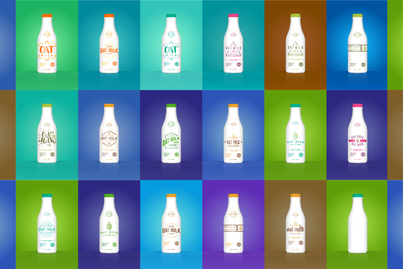 Download 6 Green Glass Bottles Pack Mockup Yellowimages