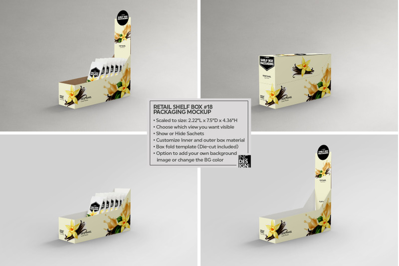 Download Display Box With Sachets Mockup Yellowimages