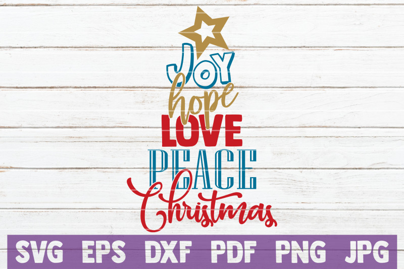 Download Joy Hope Love Peace Christmas SVG Cut File By ...