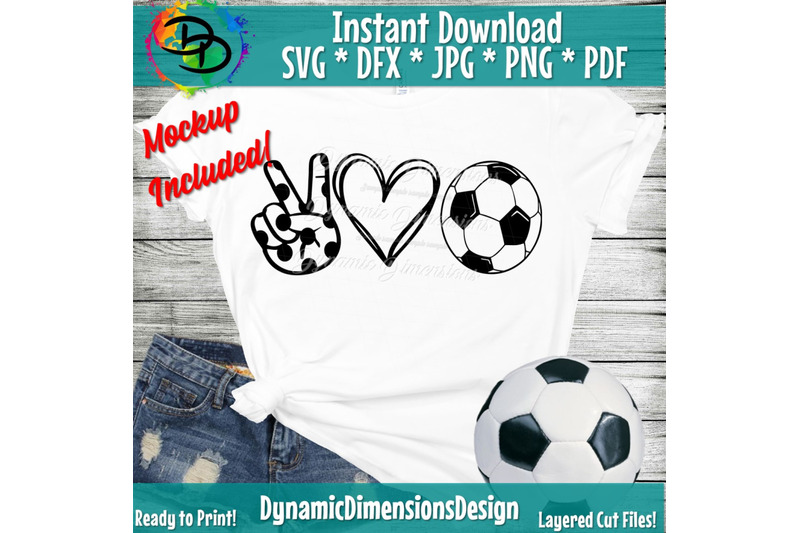Download Peace, Love, Soccer svg, Soccer png, Soccer Shirt, Peace ...