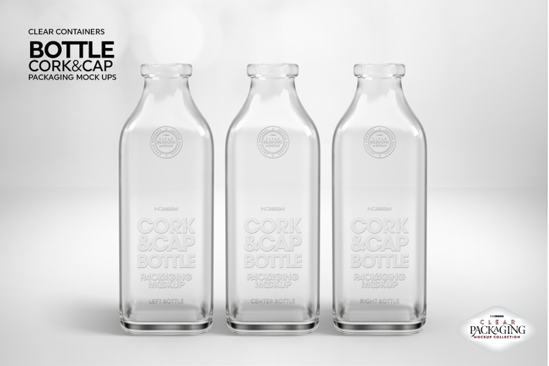Download Blue Glass Christmas Bottle Mockup Yellowimages