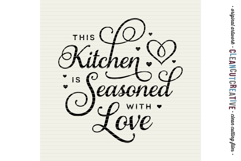 Download This Kitchen is Seasoned with Love - SVG DXF EPS PNG ...