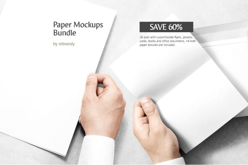 Download Kraft Bag Twisted Paper Handles Mockup Yellow Images