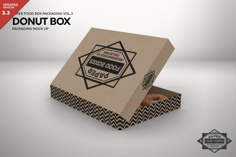 Download Download Dozen Donut Box Packaging Mock Up PSD Mockup ...