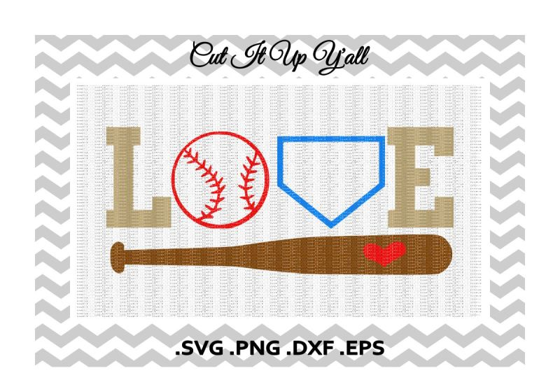 Download Love Baseball Svg, Png, Eps, Dxf, Cutting/ Printing Files ...