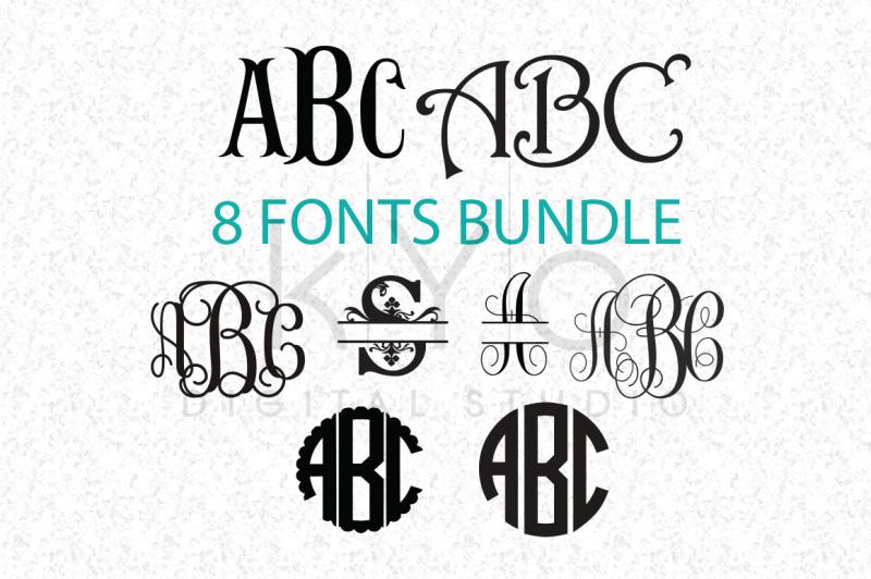 Download Cricut Fonts Bundle SVG (Not Typing), Monogram Letters SVG ...
