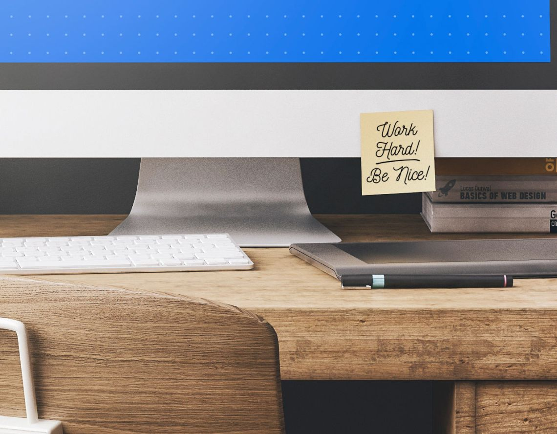Download Desk Mockup Free Psd Yellow Images