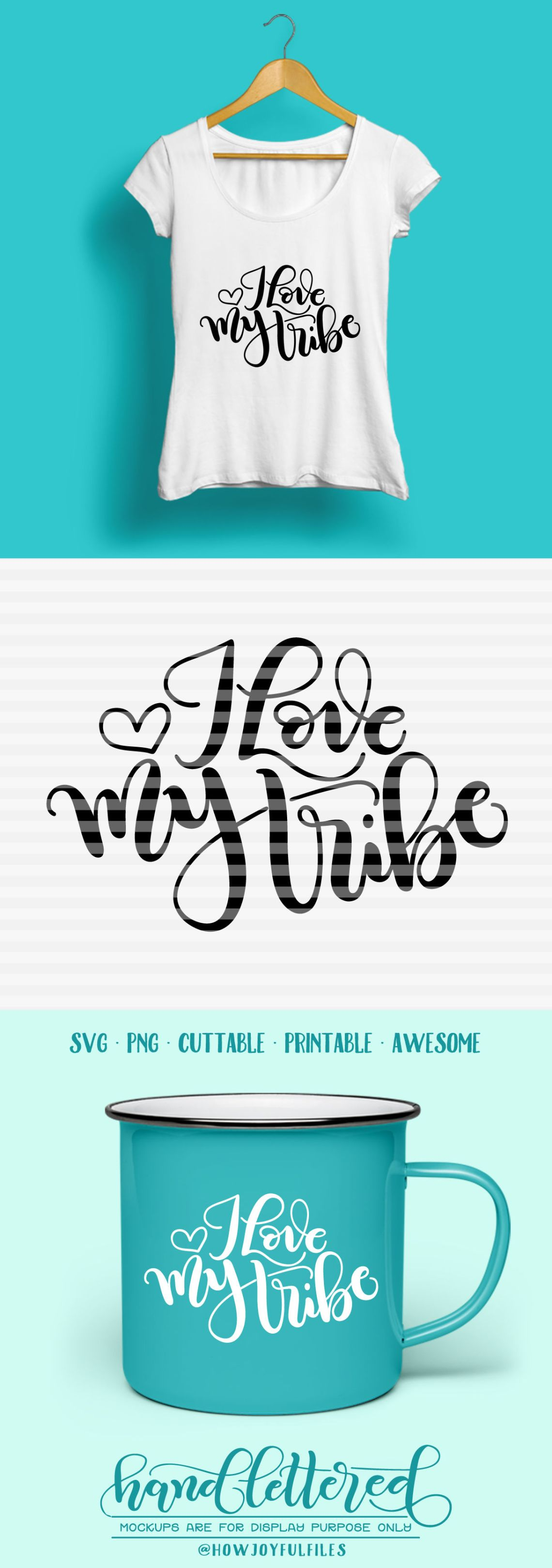 Download I love my tribe - SVG - PDF - DXF - hand drawn lettered ...