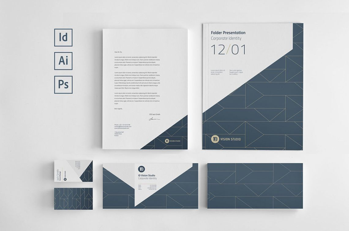 Download Corporate Identity Mockup Psd Free Yellow Images