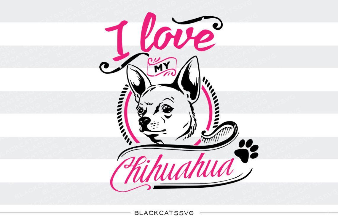 Download I love my Chihuahua - SVG By BlackCatsSVG | TheHungryJPEG.com