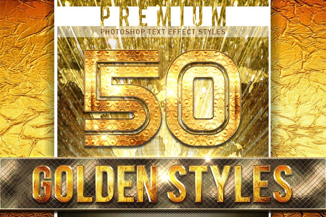 Download 50 Golden Font Bundle By TrulyDesign | TheHungryJPEG.com