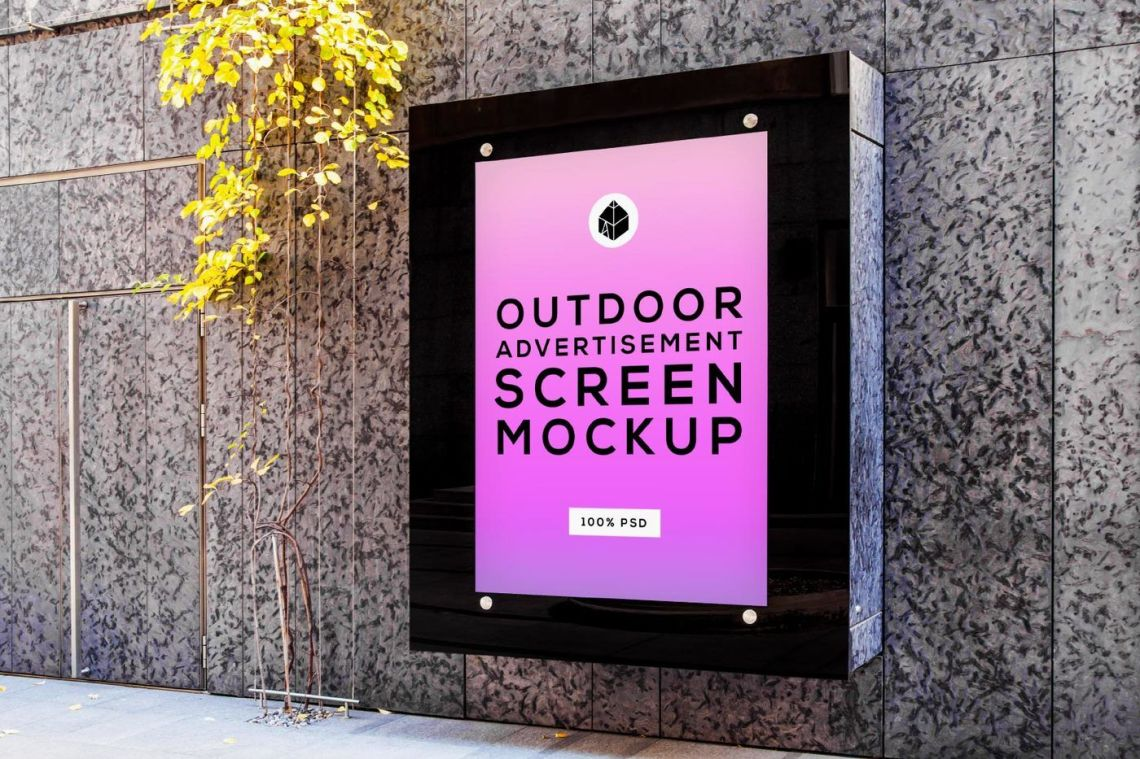 Download Psd Signage Mockup Yellowimages
