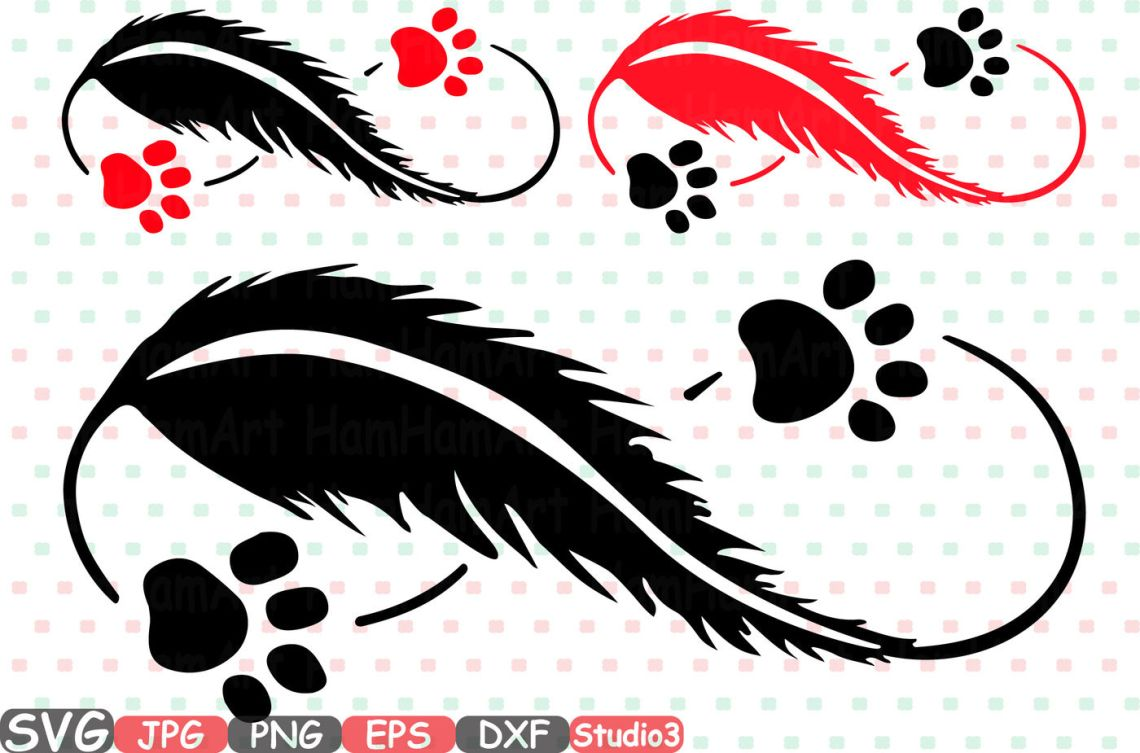 Download Pet Love Infinity Silhouette SVG dog Puppy paw Feather ...