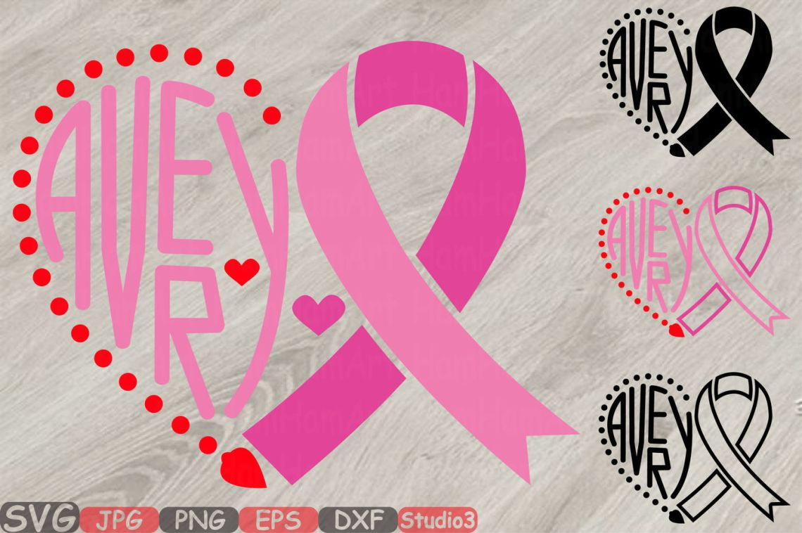 Download Avery Breast Cancer Ribbon Silhouette SVG love faith hope ...