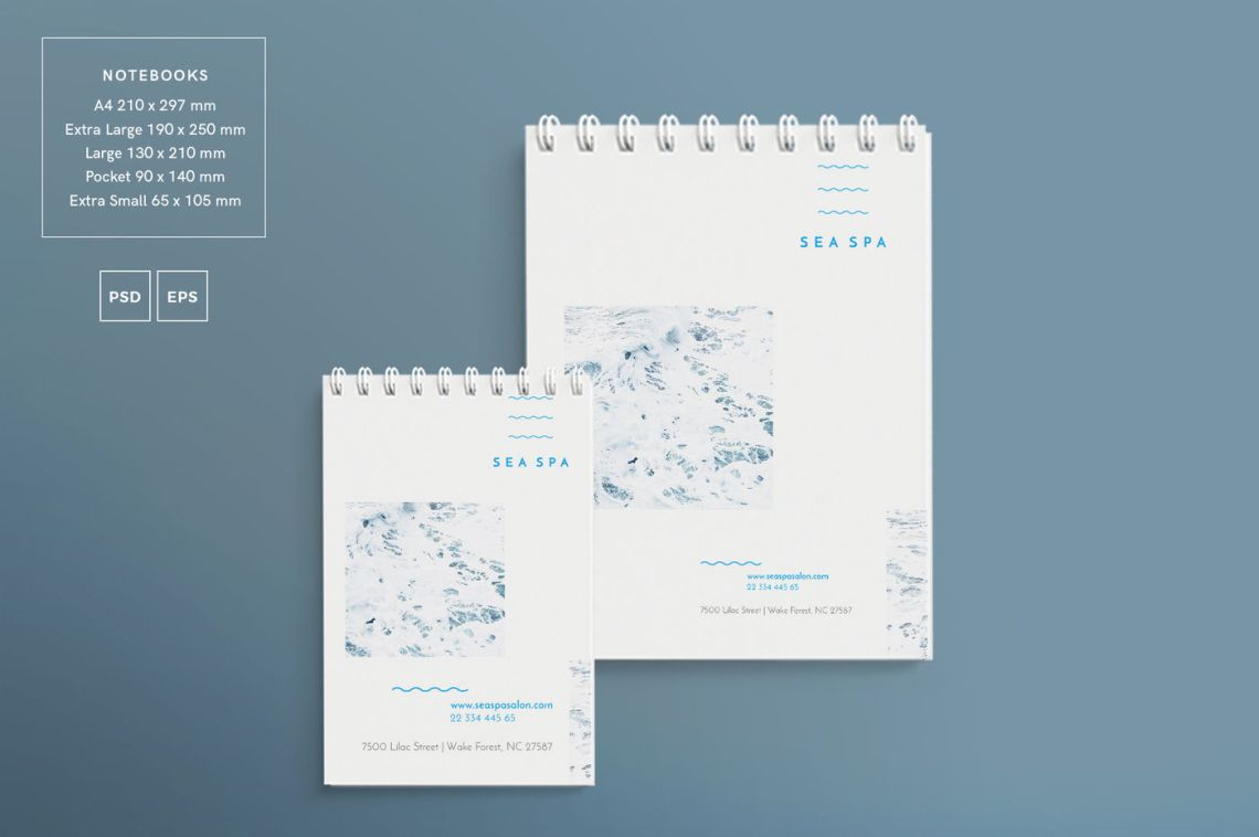 Download Spiral Notebook Psd Mockup Yellowimages