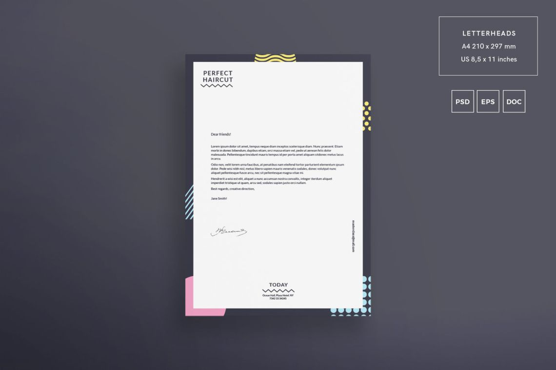 Download Letterhead Mockup Psd Download Yellowimages