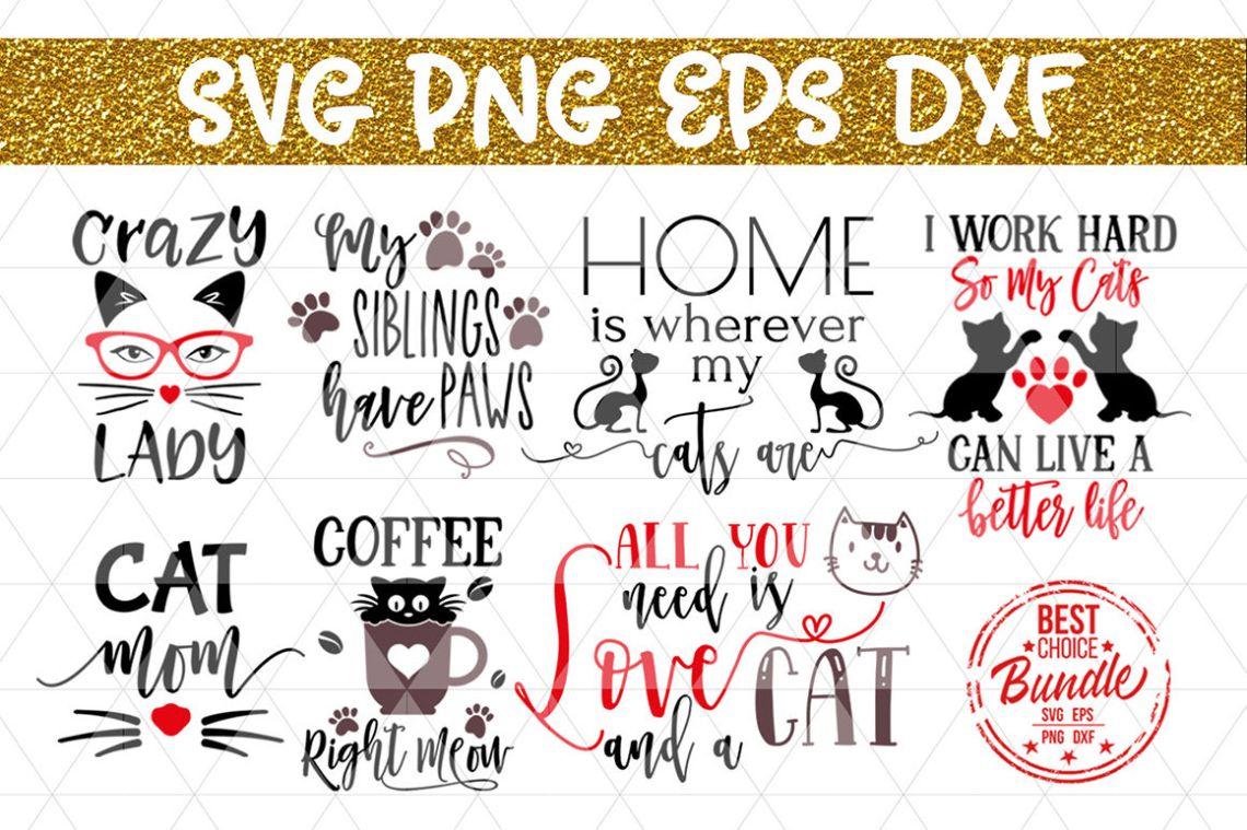 Download Cats Bundle SVG Cut File, Cat Lover Gift SVG, EPS, PNG ...