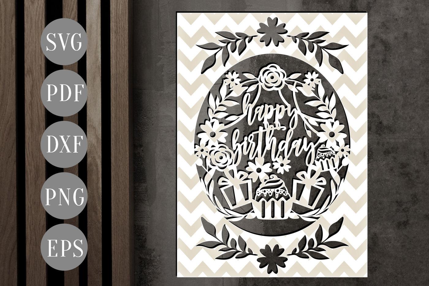 Cricut Birthday Cards Svg Free