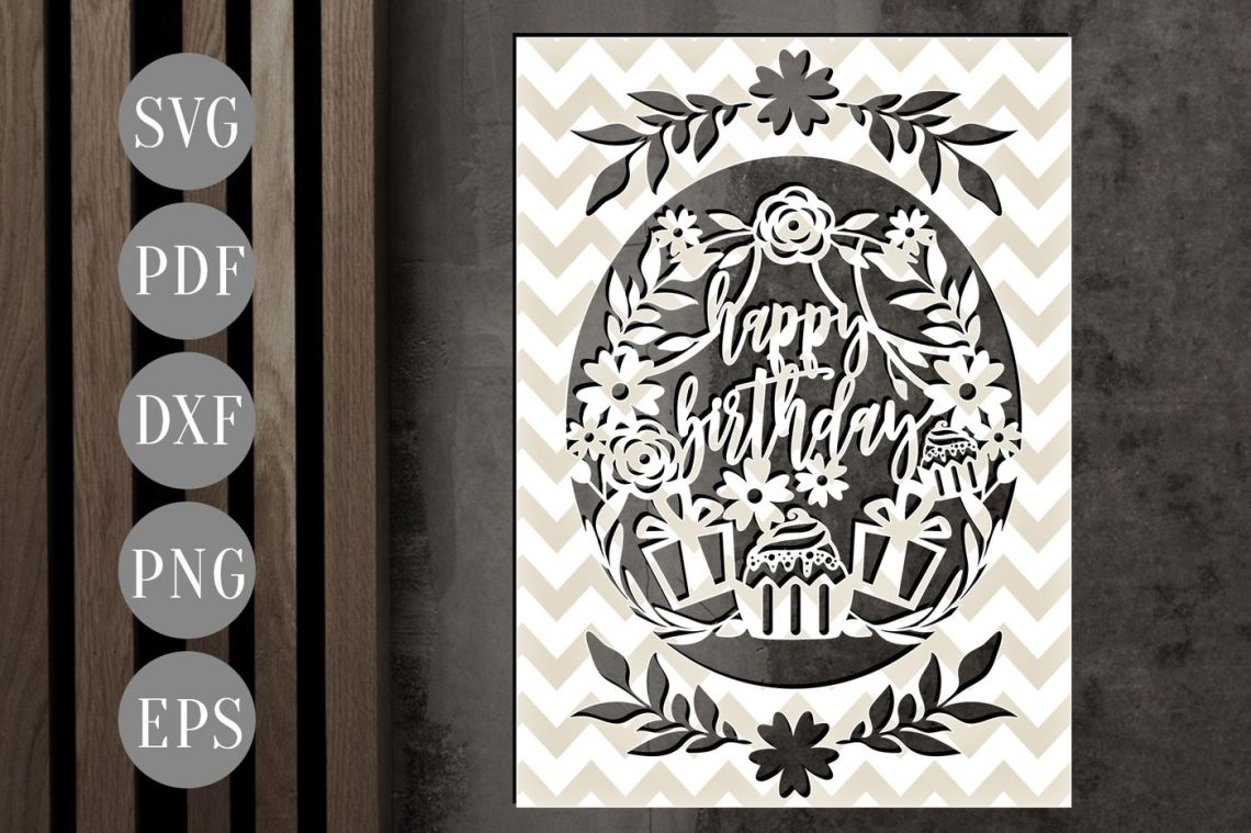 Download Cricut Explore Free Happy Birthday Card Svg Cutting Files