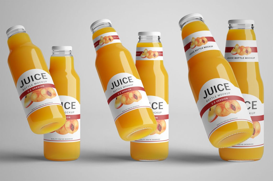Download Bottle Wrapped In Glossy Paper Mockup Yellowimages