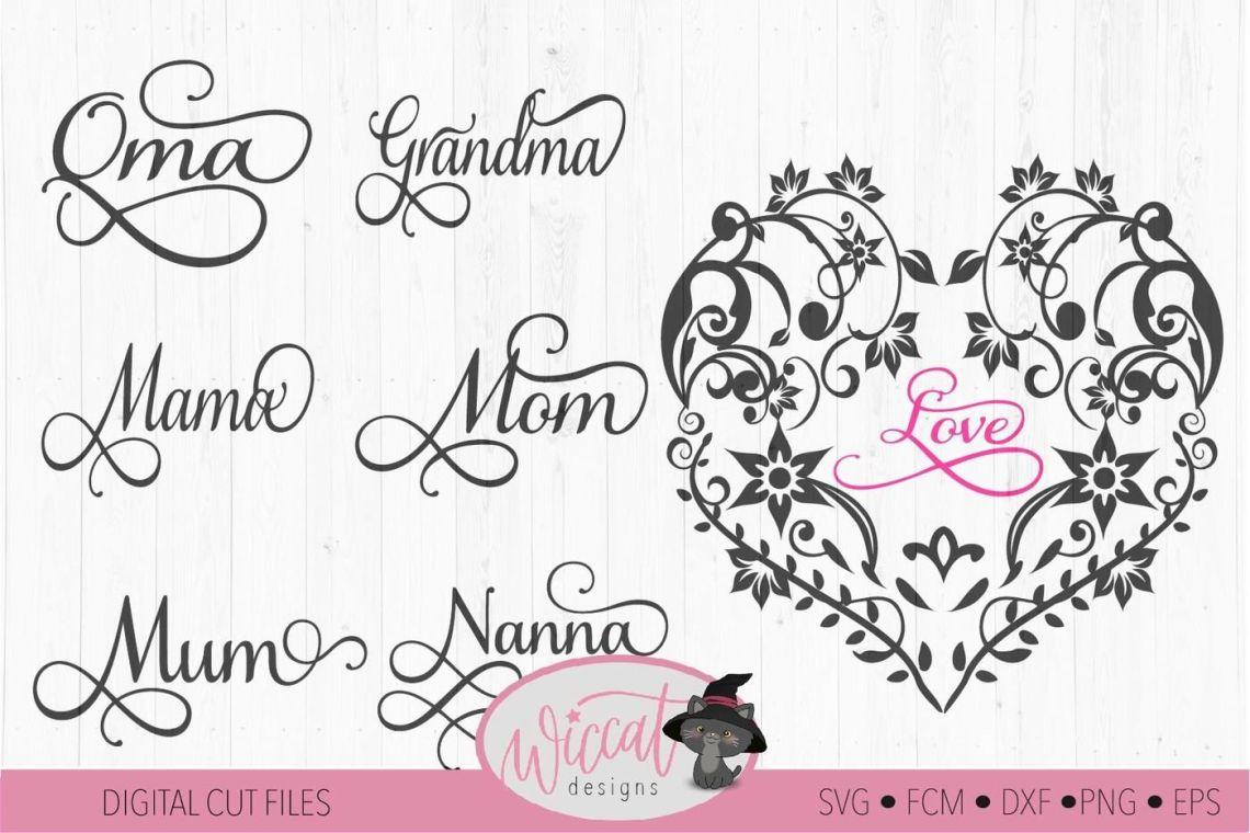 Download Calligraphy Heart Design Svg
