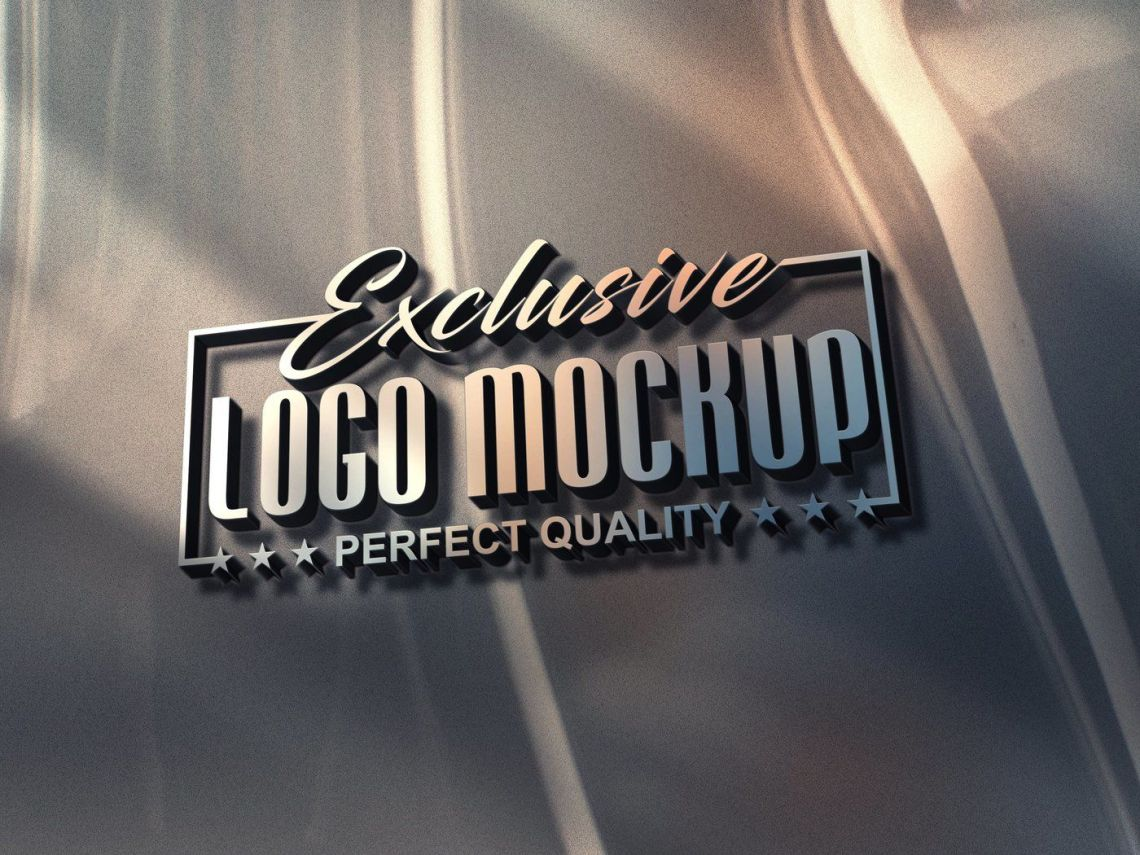Download 3d Logo Mockup Psd Yellowimages