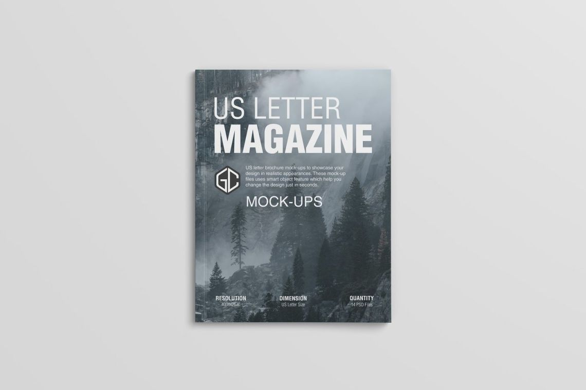 Download Magazine Cover Mockup Psd Yellowimages