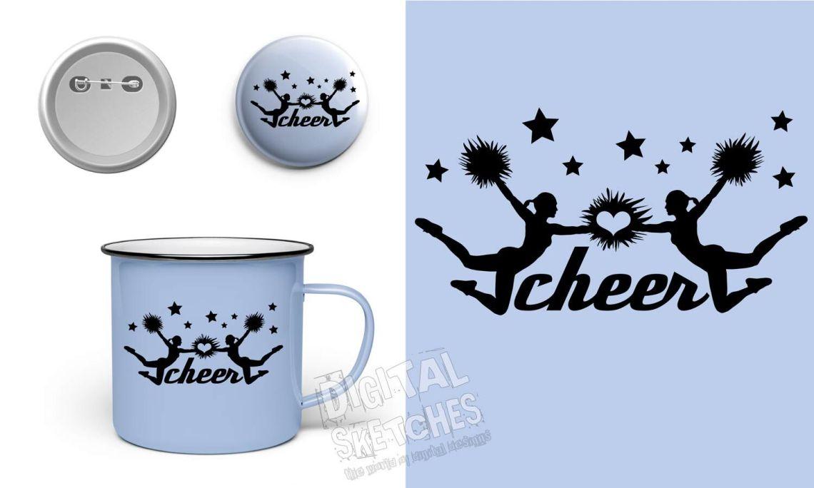 Download Cheer Love Vector Graphic, Cheerleader SVG, DXF, Cheer ...