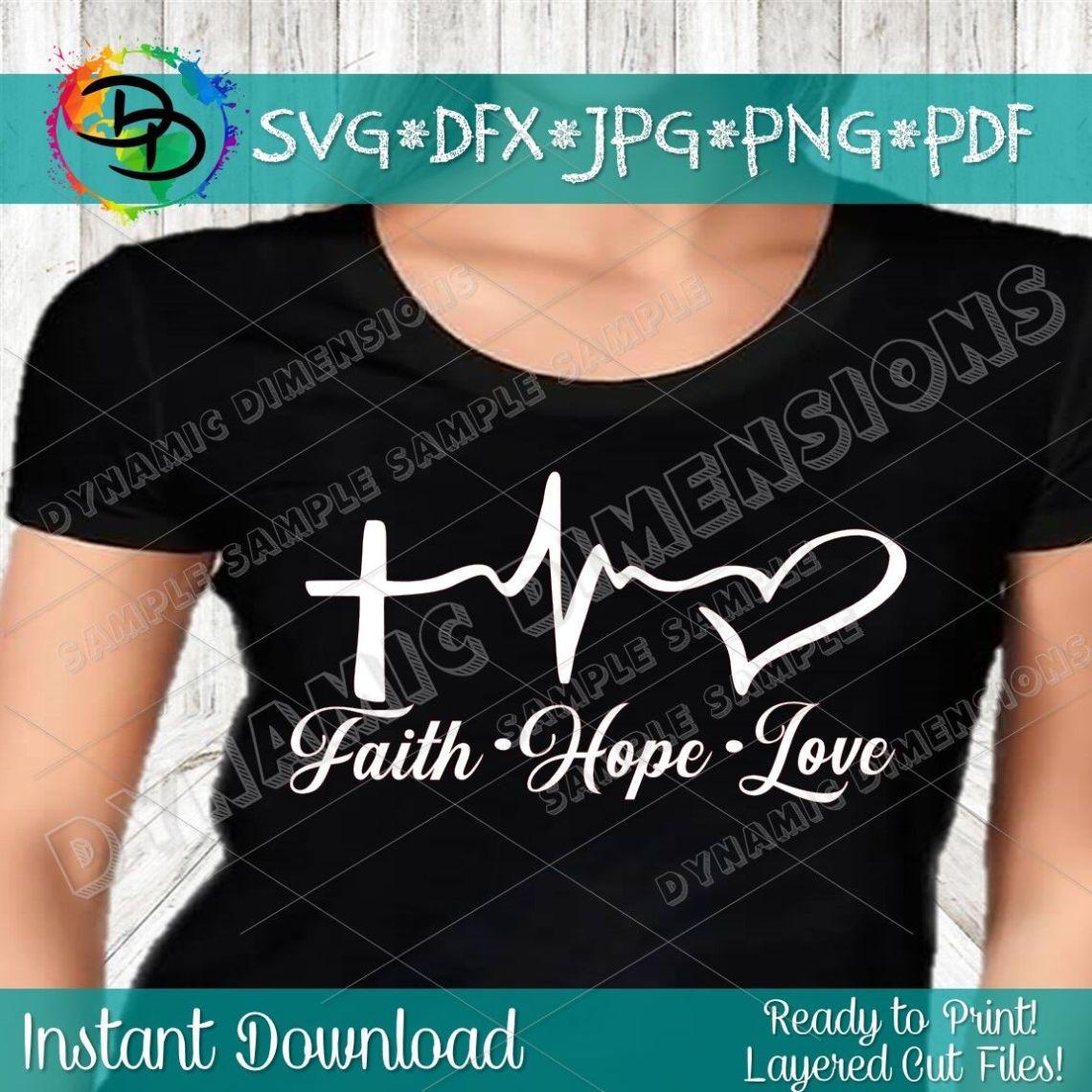Download Faith SVG, Christian svg, Religious svg, Faith Hope Love ...